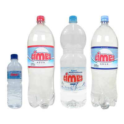 Agua en botellas de 500cc, 1,5 litros, 240 cc y 2,25 litros
